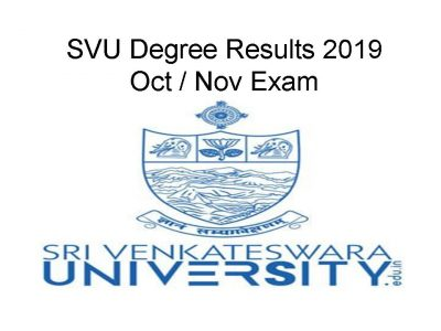SVU Degree 1st 2nd Sem Results 2019(Announced) 2nd 4th 6th