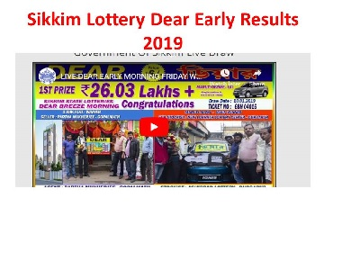 Friday Lottery Results