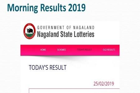 02 09 2019 Nagaland Lottery Dear Loving / Respect Morning
