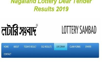 Nagaland Lottery Dear Tender Results 02/08/2019 Today Friday