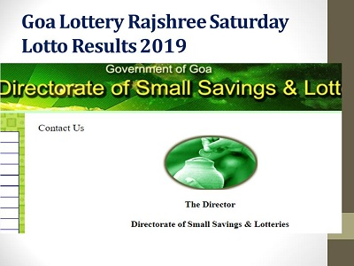 Goa Lottery Rajshree Saturday Lotto Results 09/03/2019|9 PM