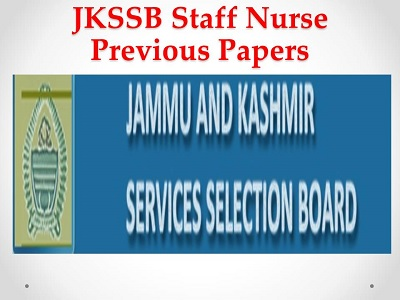 JKSSB Junior Staff Nurse Previous Papers Available Check