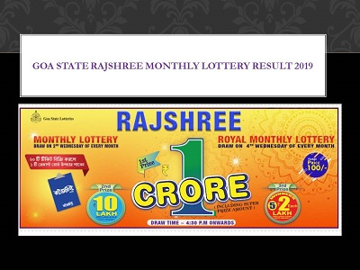 Goa State Rajshree Monthly Lottery Results 11-09-2019|Goa