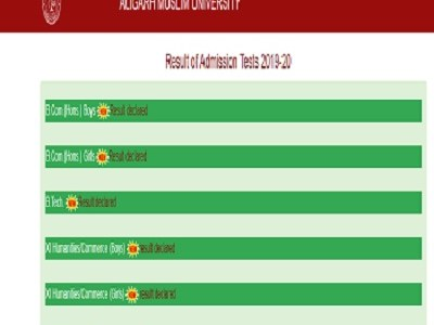 AMU School Admission Test Results 2019 Class 1st 6th 9th