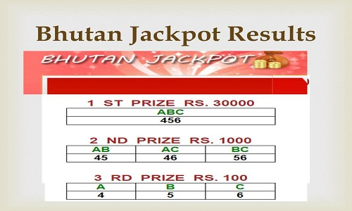Bhutan Jackpot Result 2019 Today 11 30 AM & 6 30 PM