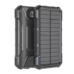 Solar-Powerbank SLIM 20.000mAh schwarz