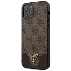 Guess Triangle Cover für Apple iPhone 12/12 Pro/12 Pro Max Braun