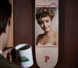 Habitat Skateboards Twin Peaks Laura Palmer deck Speedway Skateboarding Magazine