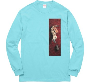 Mike Hill for Supreme New York Spring 2017 Snake Trap Longsleeve t shirt blue Speedway Skateboarding Magazine