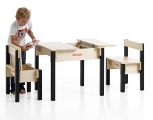 2-zits speeltafel met twee opbergstoeltjes