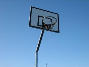 Basketbalpaal met bord - Openbaar gebruik