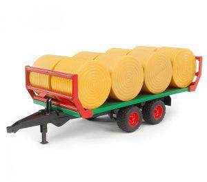 Bruder 02220 Hooibalenvervoer aanhanger met 8 balen