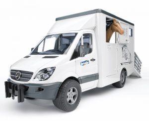 Bruder 02523 MB Sprinter met paardentransporter + paard