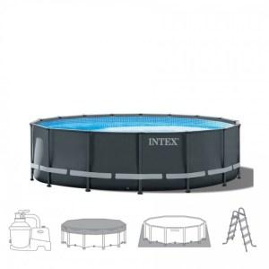 Intex Zwembad Ultra-XTR Frame-Pool diameter 488x122cm. Compleet pakket (+ zandfilterpomp)