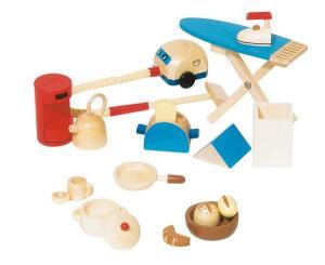 Keukenbenodigdheden - accessoireset poppenhuis