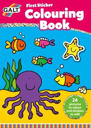 Eerste Kleurboek met stickers First Sticker colouring Book