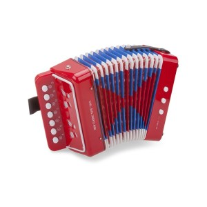 Accordeon met muziekboek