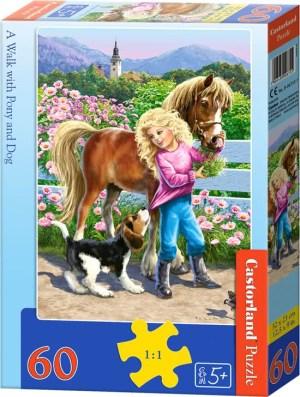 A walk with pony and dog - Castorland puzzel