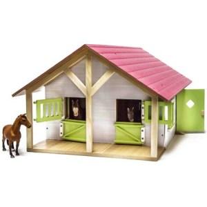 Kidsglobe Paardenstal met 2 boxen en berging Rose