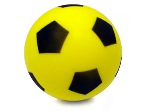 softbal 20cm met voetbalprint