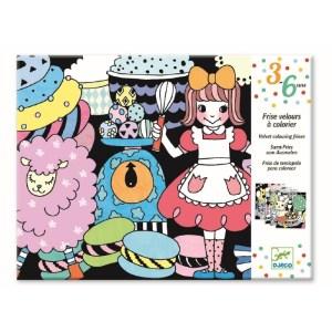 Djeco Fluwelen kleurplaat Sweet Parade Knutselset