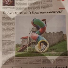 20170930 Reactie uitbreiding 't Span krant