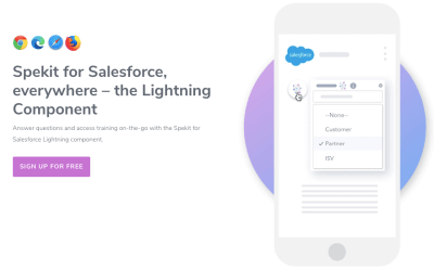 Now: Use Spekit for Salesforce – NO extensions needed –  completely FREE for up to 10 users