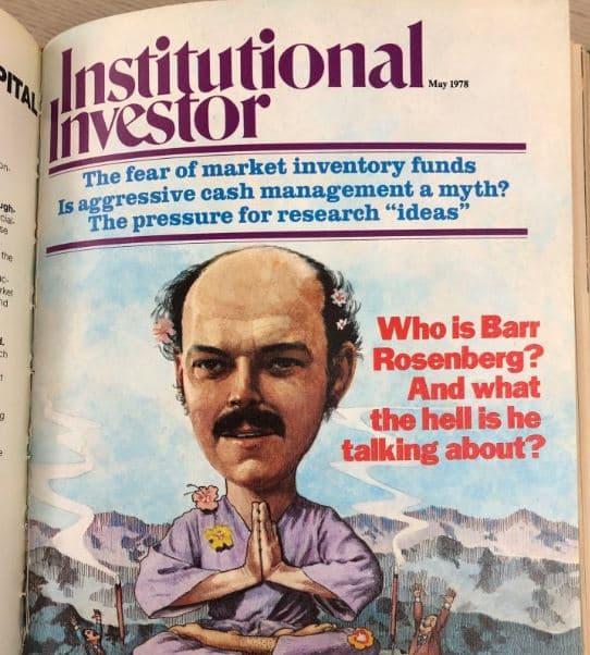 Barr Rossenberg Nie za długa historia pasywnego inwestowania