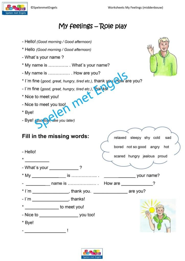 Worksheets My Feelings Middenbouw