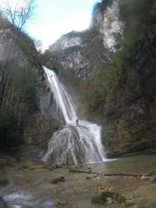 3ème cascade 70m en deux parties