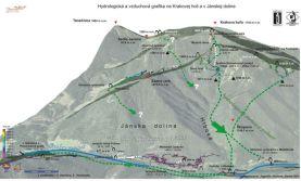 Hydrologická a vzduchová grafika na Krakovej holi a v Jánskej doline
