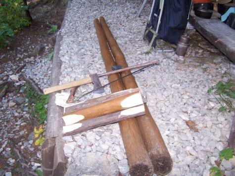 Materiál na montáž rebríka