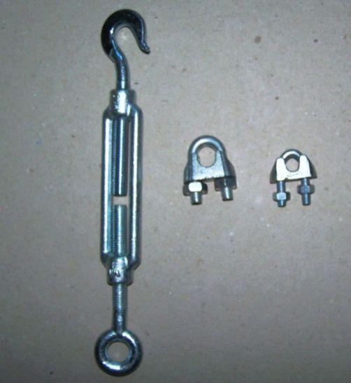 Lanová svorka Din 1142 M 10 Lanový napinák Din 1480 M 10