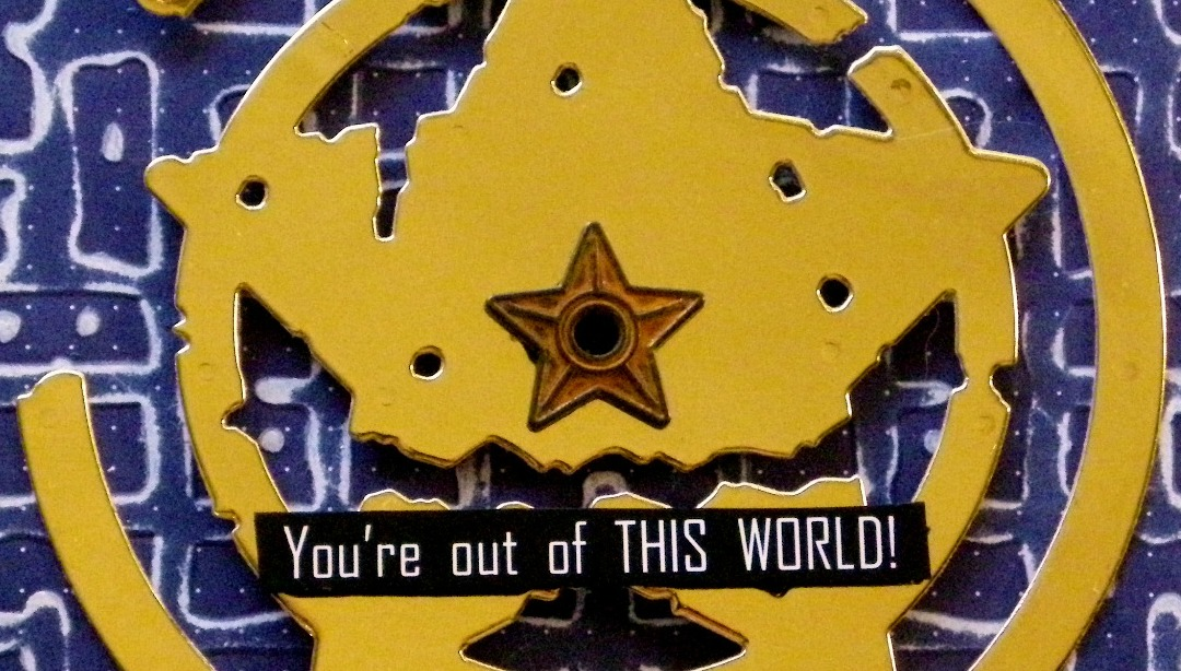 Out Of This World Card with Seth Apter's New Dies. Project by Linda Lucas