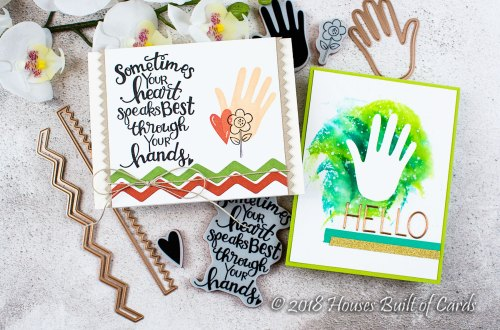 Sew Sweet Collection by Tammy Tutterow Inspiration | Simple Cards with Heather for Spellbinders using: SBS-161 #Handmade, SBS-162 Sew Tiny Sentiments, S4-870 From Heart and Hand, S6-144 Sew Sweet Trims #spellbinders #cardmaking #neverstopmaking