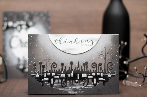 Wings of Love Collection by Joanne Fink - Inspiration | Black & White Cards with Elena for Spellbinders using S4-888 Words, S5-356 Love Dream Create, SCD-009 Pierced Circles #spellbinders #diecutting #handmadecard #cardmaking