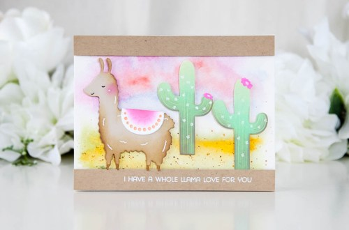 Exclusive Indie Collection Inspiration | Llama Love by Keeway for Spellbinders. The Exclusives collection is only available at select online and local independent retailers. #spellbinders #diecutting #handmadecard #neverstopmaking #spellbindersdies