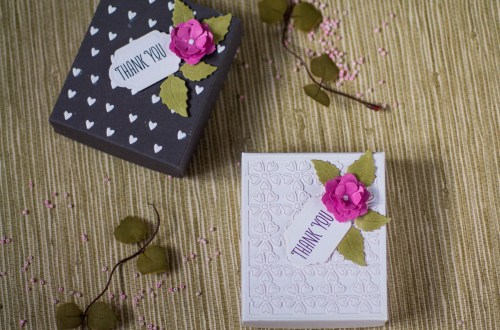 Spellbinders - Blooming Garden Collection by Marisa Job | Easy Gift Boxes with Elena featuring S6-146 Heart Flower Box, S3-335 Rose Buds, S4-916 Blooming Roses, KOM-JAN18 Floral Love Card Kit of the Month #spellbinders #giftbox #marisajob #neverstopmaking