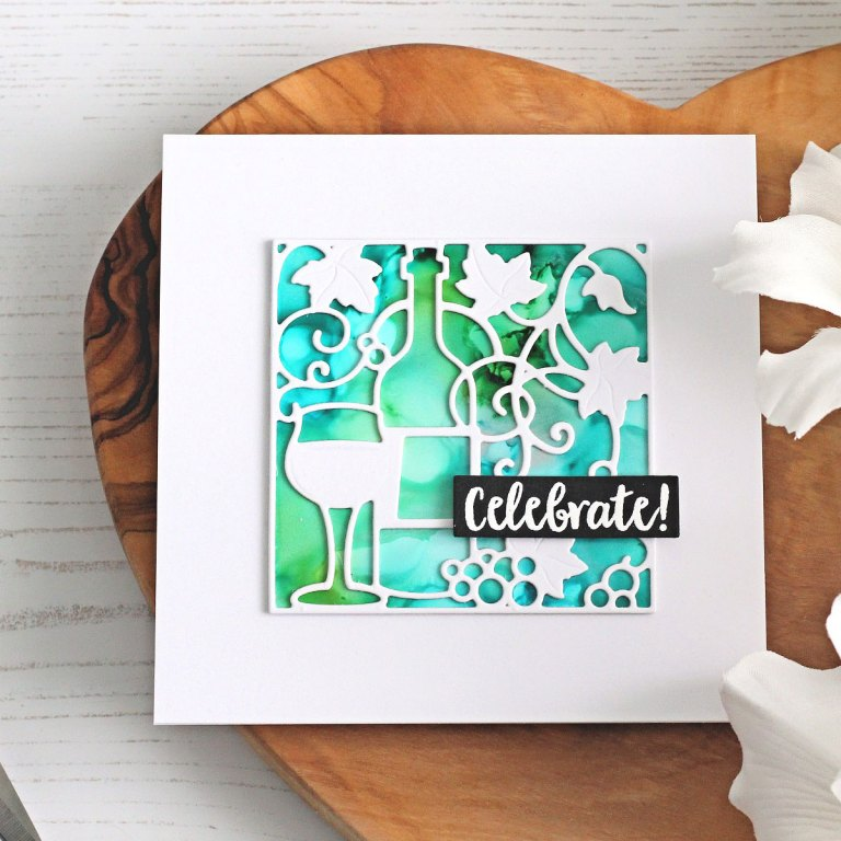 Spellbinders Wine Country Collection by Stacey Caron - Inspiration | Clean & Simple Cards with Michelle Short featuring SDS-135 Barrel of Sentiments, SDS-133 Vineyard Wine Bottle Tag, S4-878 Frame Charms, S5-348 Wine Snippets, PE-100 Platinum 6 Die Cutting and Embossing Machine, T-001 Tool 'N One #spellbinders #winecountry #diecutting #neverstopmaking #cleanandsimplecardmaking