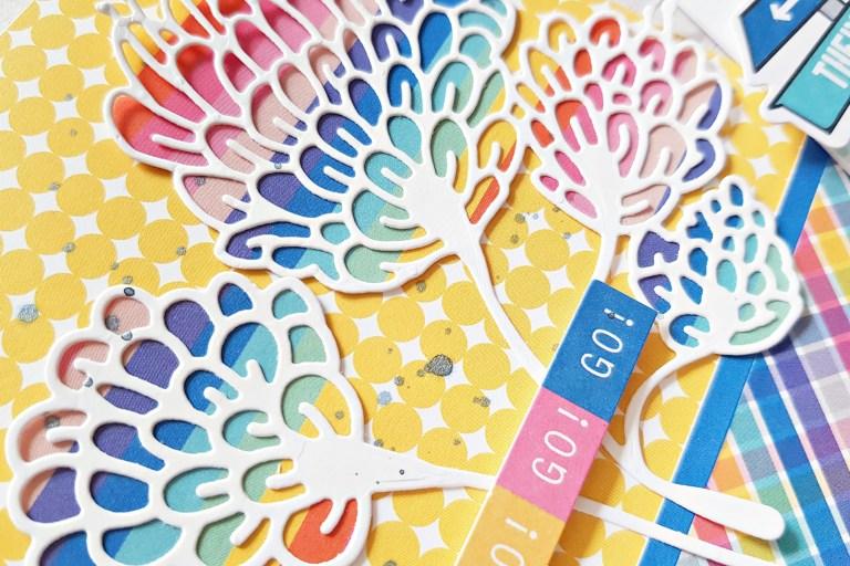 Spellbinders Jane Davenport Artomology | Colorful Mixed Media Cards with Zsoka Marko featuring JDD-003 Sea Flower, JDD-031 Mertail, JDD-033 Mermaid for Each Other, JD-031 Deep Sea Die Cutting and Embossing Machine #janedavenport #janedavenportartomology #Artomology #spellbinders #neverstopmaking #makeitwithmichaels #washisheets #dies #diecut #diecutting #diecutmachine #deepseadiecutmachine