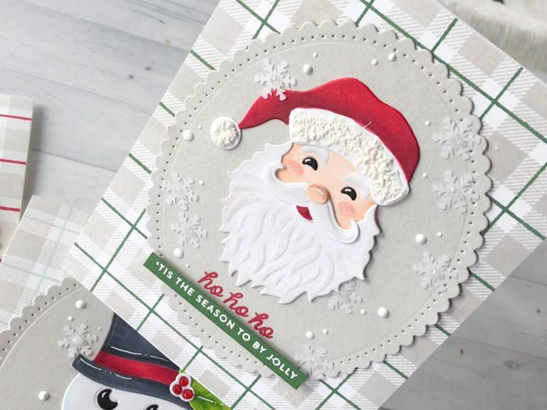 Video Friday   Copic Colored Holiday Die D-Lites with Nichol featuring S3-358 Reindeer, S3-359 Santa, S3-360 Snowman, S4-907 Fancy Edged Ovals dies #spellbinders #cardmaking #neverstopmaking