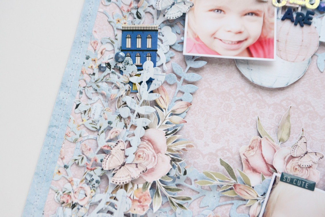 Spellbinders A Sweet Christmas Collection by Sharyn Sowell - Inspiration   Lovely Layers Layout with Anna featuring S4-938 Mistletoe Gatefold #spellbinders #neverstopmaking #diecutting #sharynsowell