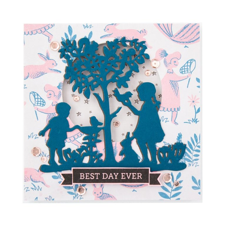 Great, Big, Wonderful World | Collection Introduction by Sharyn Sowell. S4-965-Sharyn-Great-Big-Wonderful-World-Peaceful-Garden-Etched-Dies-project