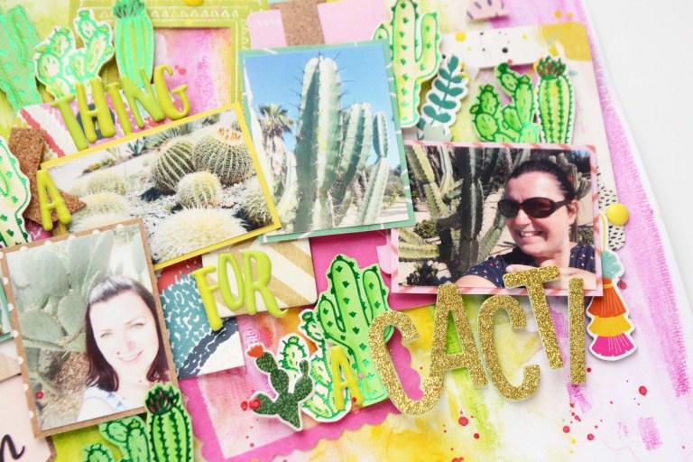 Spellbinders Glimmer Plates Inspiration   Cacti Layout with Anna Komenda