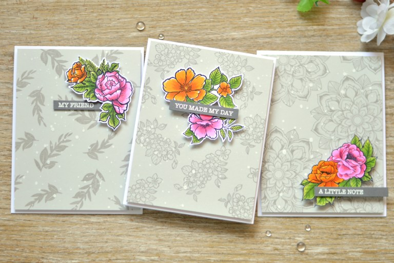 Just Add Color Collection by Stephanie Low Inspiration | Video: How to Make a Beautiful Floral Gift Card Set with Therese Calvird for Spellbinders