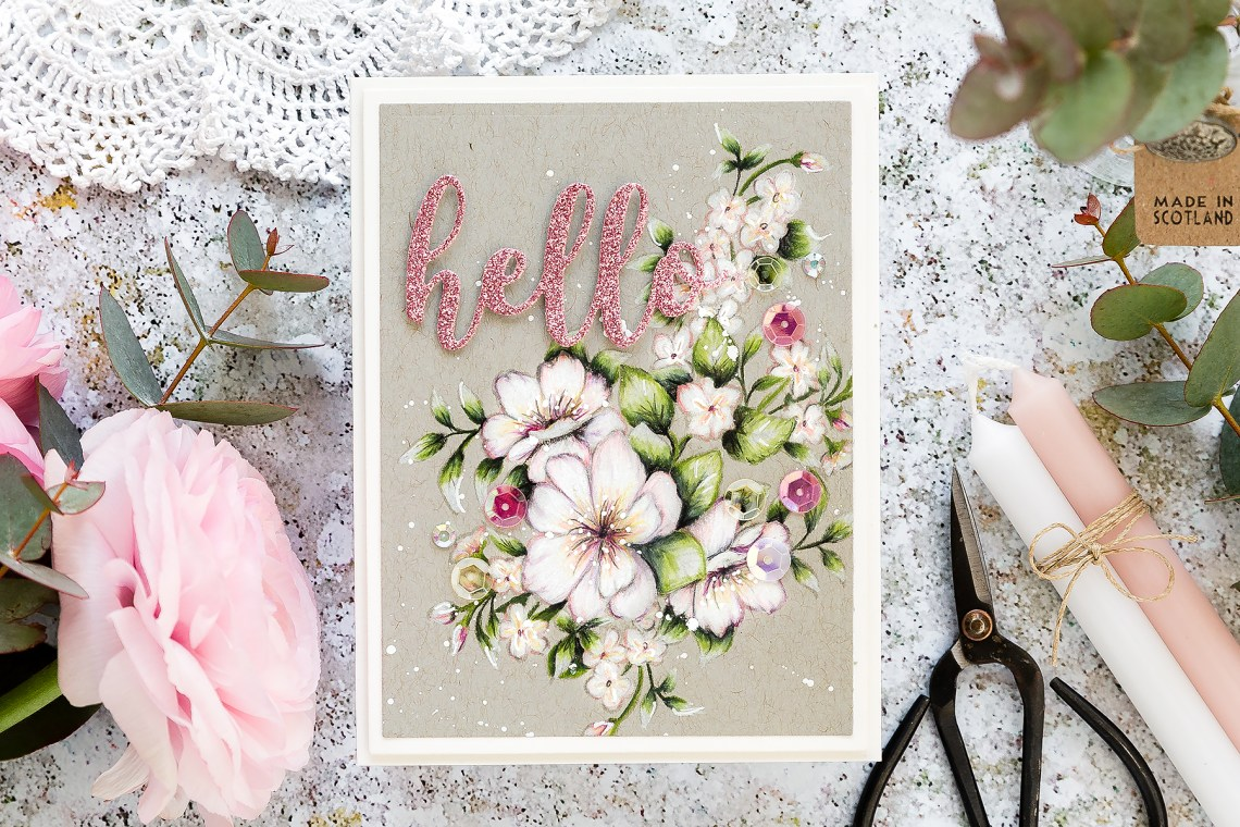 Video: Just Add Color Collection by Stephanie Low - Inspiration   Pencil Coloring on Kraft with Debby Hughes for Spellbinders