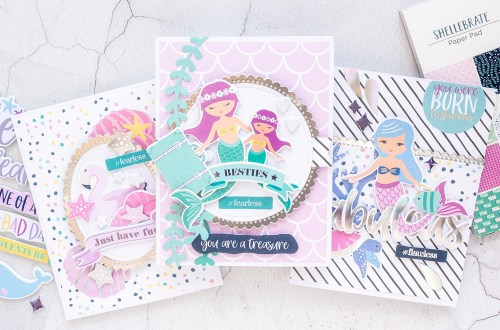 "Spellbinders ""Shellebrate"" Card Club Kit Extras! July 2019 Edition"