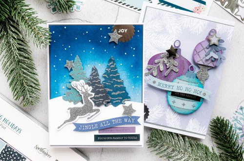 Spellbinders Card Club Kit Extras! October 2019 Edition - Sparkling Holidays Collection. Jingle All The Way Card