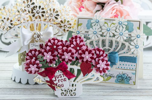 January 2020 Amazing Paper Grace Die of the Month is Here – Pop Up 3D Vignette Bouquet #SpellbindersClubKits #AmazingPaperGraceDieoftheMonth #NeverStopMaking