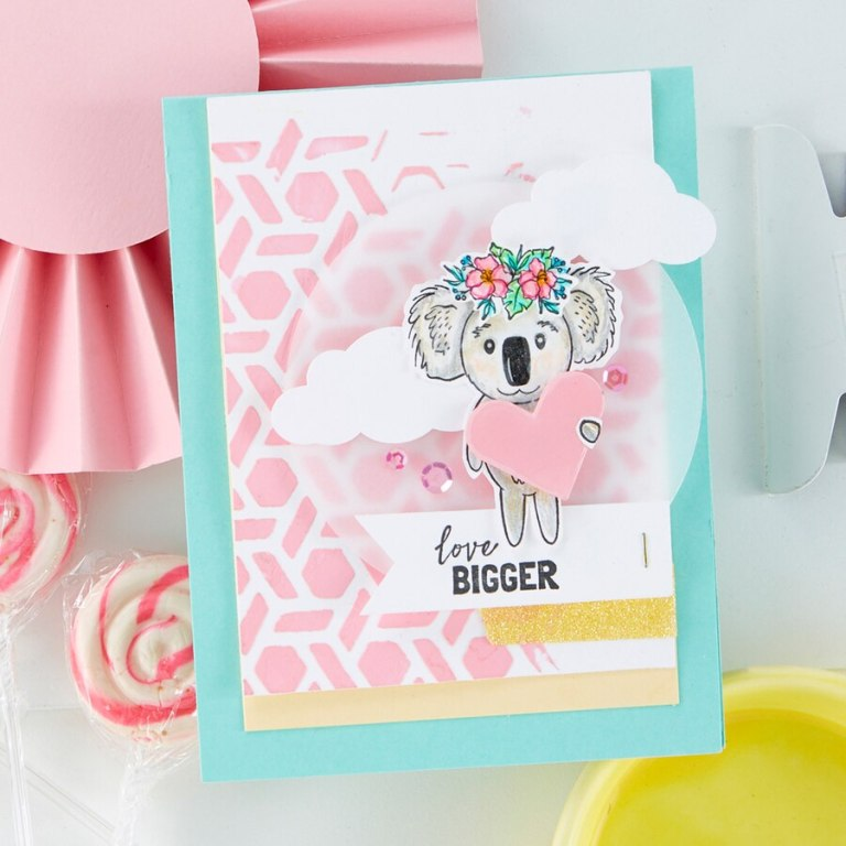 Fun Stampers Journey Kindness Matters Project Kit is Here! Love Bigger Card